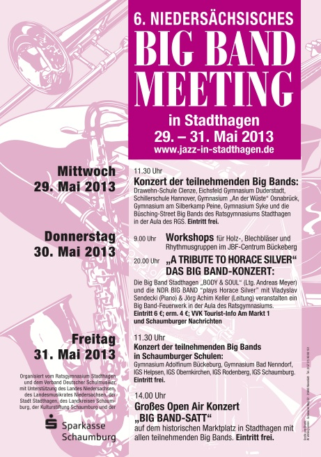 Das Plakat des Big Band Meetings